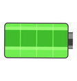 isolated icon full battery charge green battery vector image