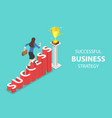isometric flat concept of success vector image