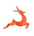 Leaping Deer of the trend gradient vector image vector image