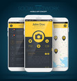 mobile application user interface concept vector image vector image