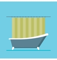 modern shower room with a close curtain vector image vector image