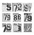 number t-shirt stamp typography for badge vector image vector image