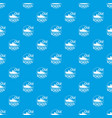 old school pattern seamless blue vector image