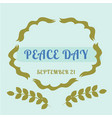 olive branch for international peace day poster vector image
