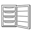 open refrigerator icon outline style vector image vector image