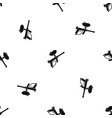 paintball marker pattern seamless black vector image vector image