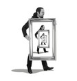 philosophy of egoism vector image