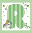 r alphabet letter for kids vector image vector image