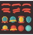 retro badges labels and ribbons set vector image vector image