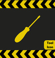 Screwdriver icon vector image