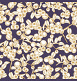 seamless pattern with arctic lingonberry hand vector image vector image