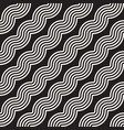 seamless wavy lines pattern repeating vector image vector image