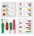 set of abstract corporate business banner vector image vector image