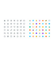 set simple office icons vector image
