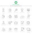 set thin line seo and development icons set 2 vector image vector image