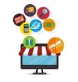 shopping online design vector image vector image