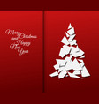 simple christmas tree made from papers vector image vector image