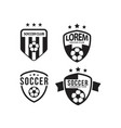 Soccer club logo set template design