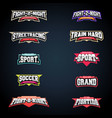 sport emblem typography set super logo for your vector image