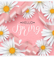 spring background with daisy flower vector image vector image