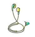 stereo earphone digital gadget color vector image vector image