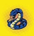 Viper Snake Pop Art Style vector image