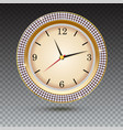 watch with diamonds on transparent background vector image vector image