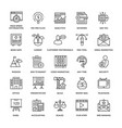 web design icons 4 vector image vector image