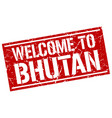 welcome to bhutan stamp vector image vector image