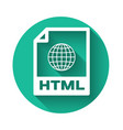 white html file document icon download html vector image vector image