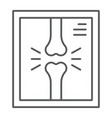 x-ray thin line icon medicine and clinical vector image vector image