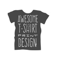 Men t-shirt design template vector image