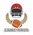 American football logo emblem vector image
