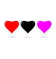 heart icon flat design style vector image