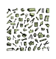 Repair icons sketch for your design vector image