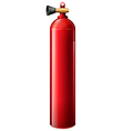 A red oxygen tank vector image