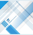 abstract blue and white technology geometric vector image