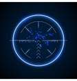 Accurate sniper scope neon luminous target vector image vector image