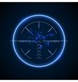 accurate sniper scope neon luminous target vector image