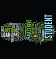 astrive student loans text background word cloud vector image vector image