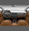 automobile salon car interior template