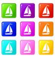 boat set 9 vector image vector image