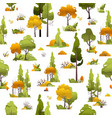 bushes trees seamless pattern vector image