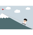 Businessman Climbing Hill vector image vector image