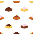 cartoon seamless pattern of belgian hinese waffle vector image vector image