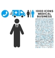 Clerk Icon with 1000 Medical Business Pictograms vector image vector image