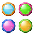 colorful round buttons set vector image vector image