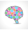 creative mind or brain with colorful gears vector image