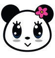 Cute Panda Girl With Big Eyes vector image