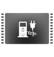 electric car charging station sign icon vector image